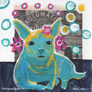 This Is My Real Hair - Original Rainbow Chihuahua Painting