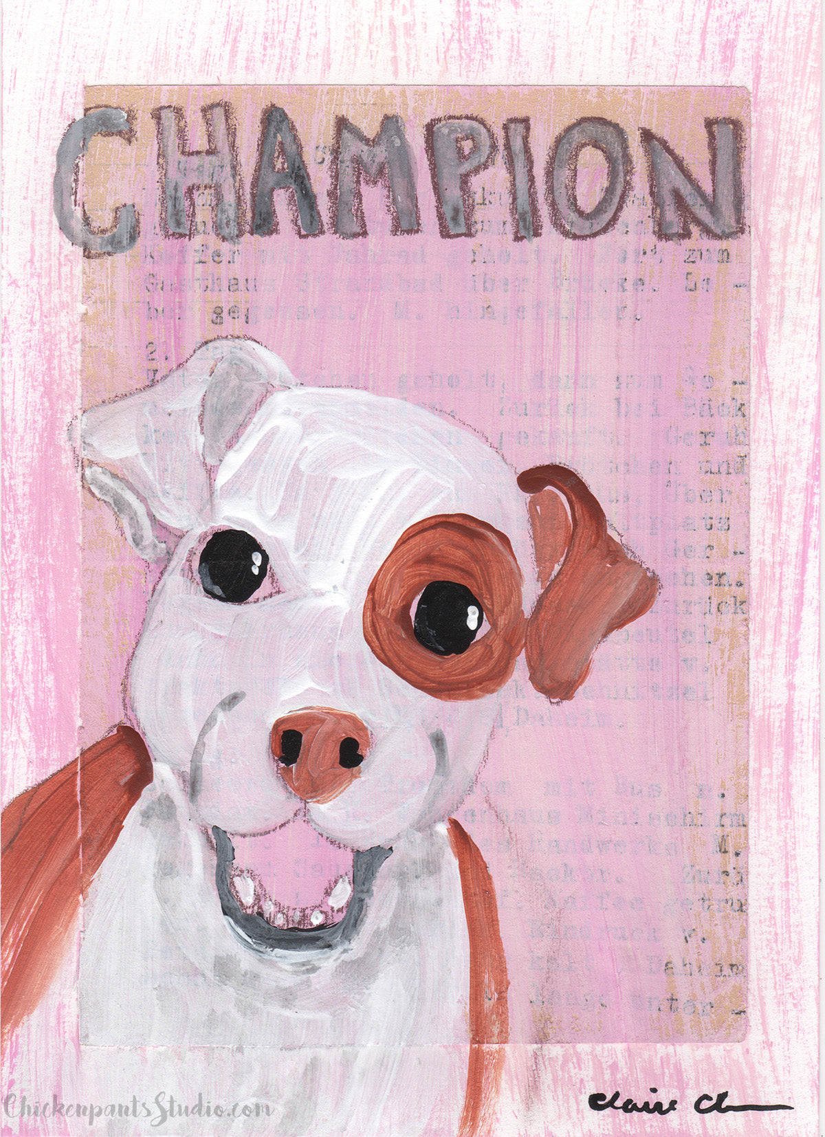 Champion - Original Dog Painting