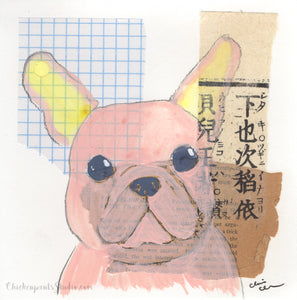 Pinkie - Original French Bulldog Dog Painting