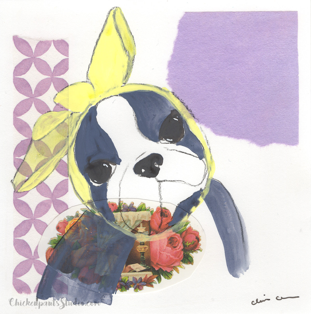 Sadie - Original Boston Terrier Painting