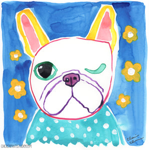 Playful - Original French Bulldog Painting