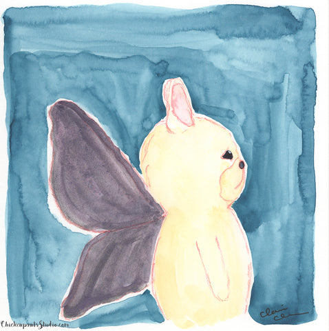 Butterfly, Part Three - Original French Bulldog Painting