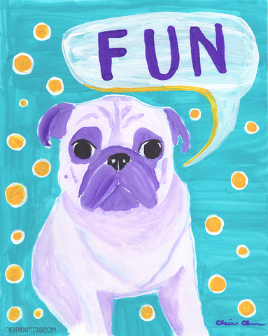FUN - Original Pug Painting