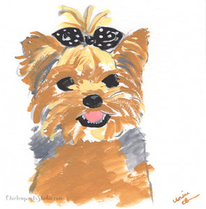 It's Called Fashion, Darling - Original Yorkie Terrier Painting
