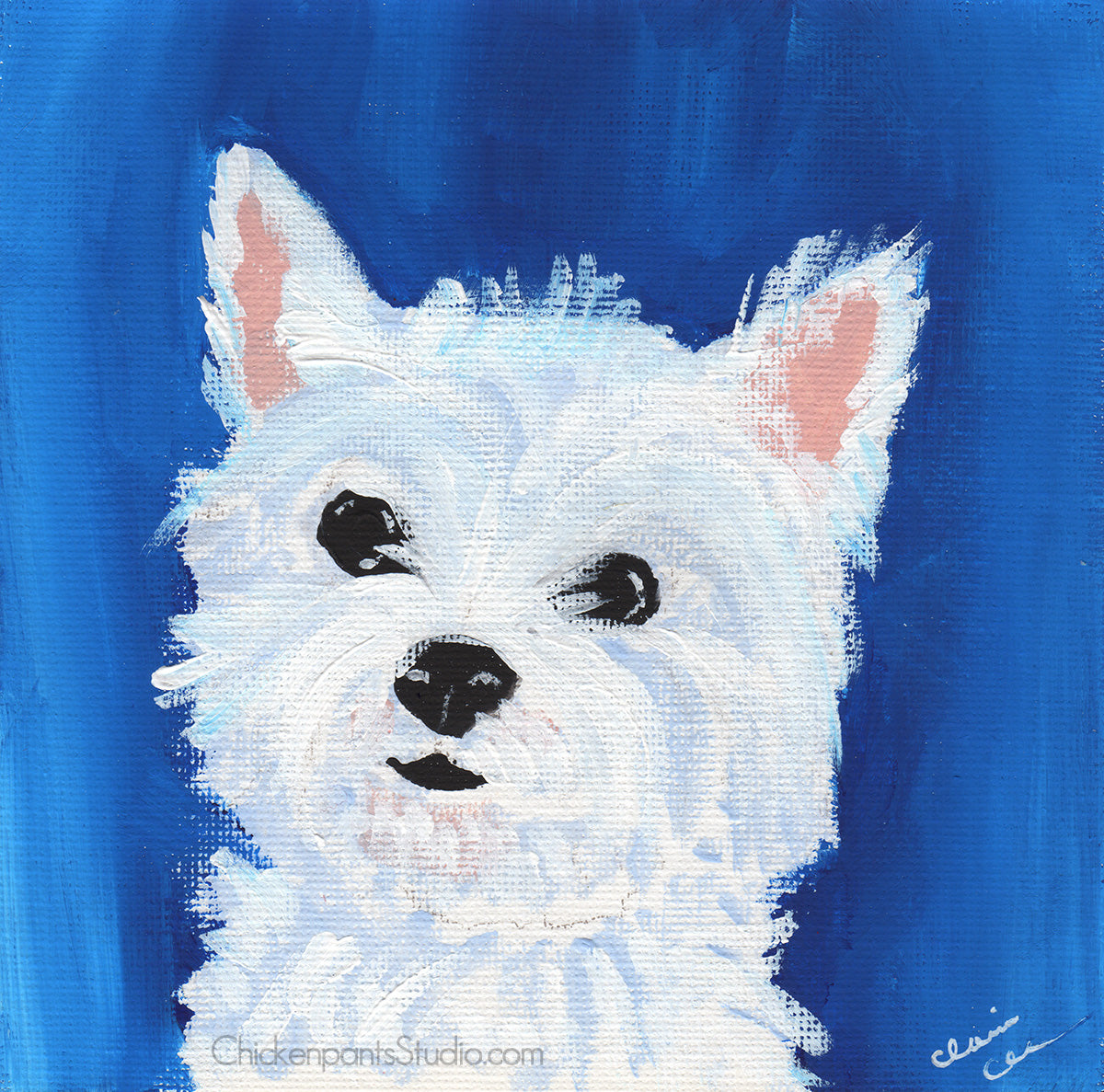 Westie - Original West Highland Terrier Painting