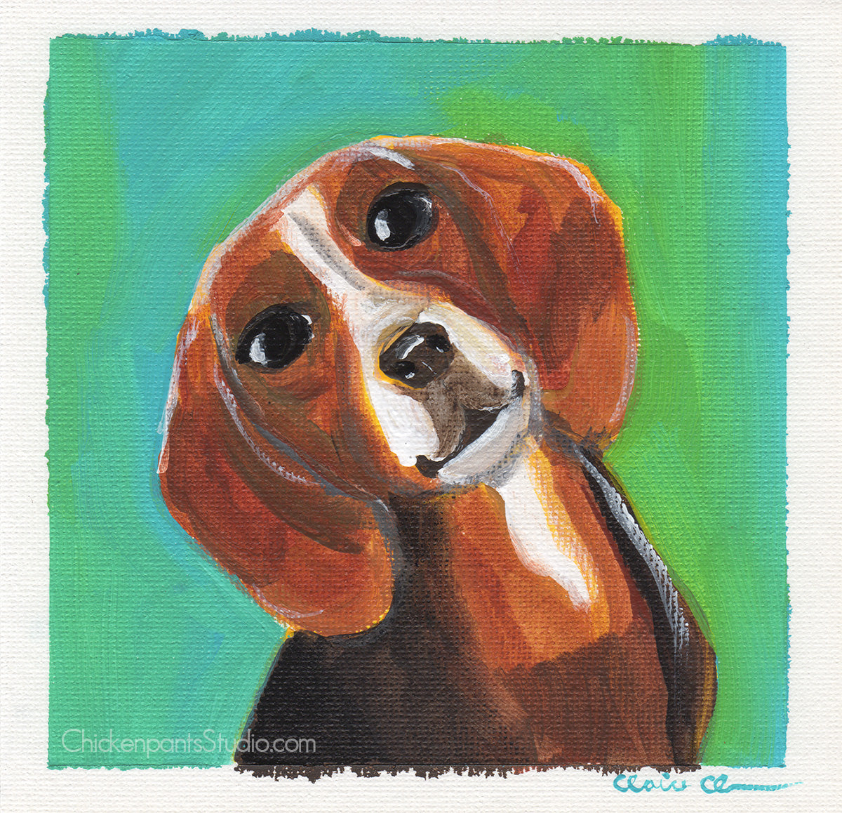 It's Beagle Time - Original Beagle Painting