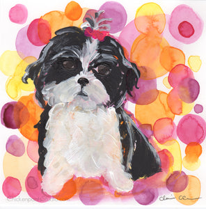 Bubbles - Original Shi Tzu Painting