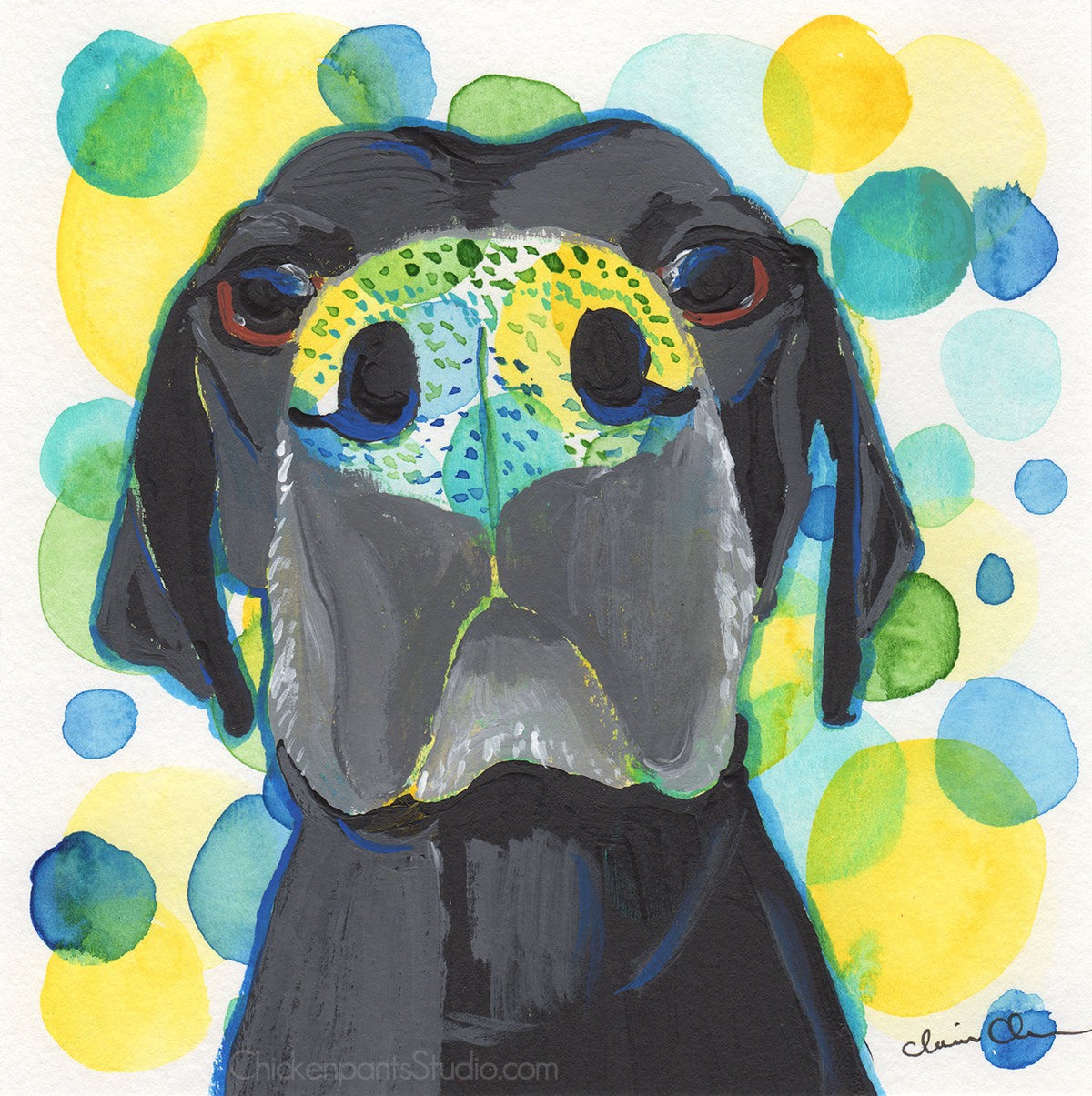 Boop The Snoot - Original Dog Painting