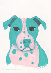 Candy Dot - Original Boxer Painting