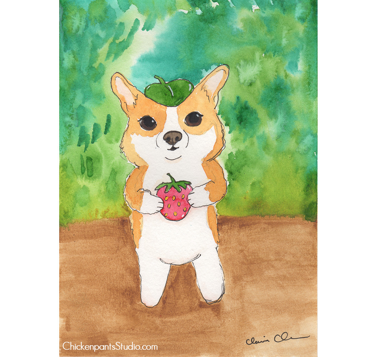 Forest Corgi - Original Corgi Painting