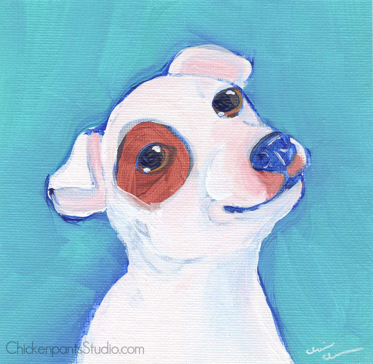 Freedom Is Just One Unlocked Gate Away - Original Jack Russell Terrier Painting