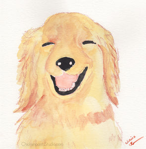 Pretty Good Joke - Original Golden Retriever Painting