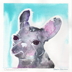 Galaxy Girl - Original French Bulldog Painting