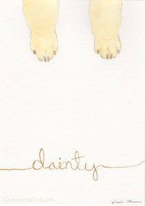 Dainty - Original Dog Painting