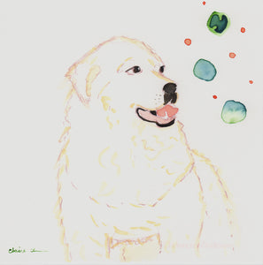 Original Great Pyrenees Painting