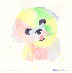 Cotton Candy - Original Bichon Frise Painting