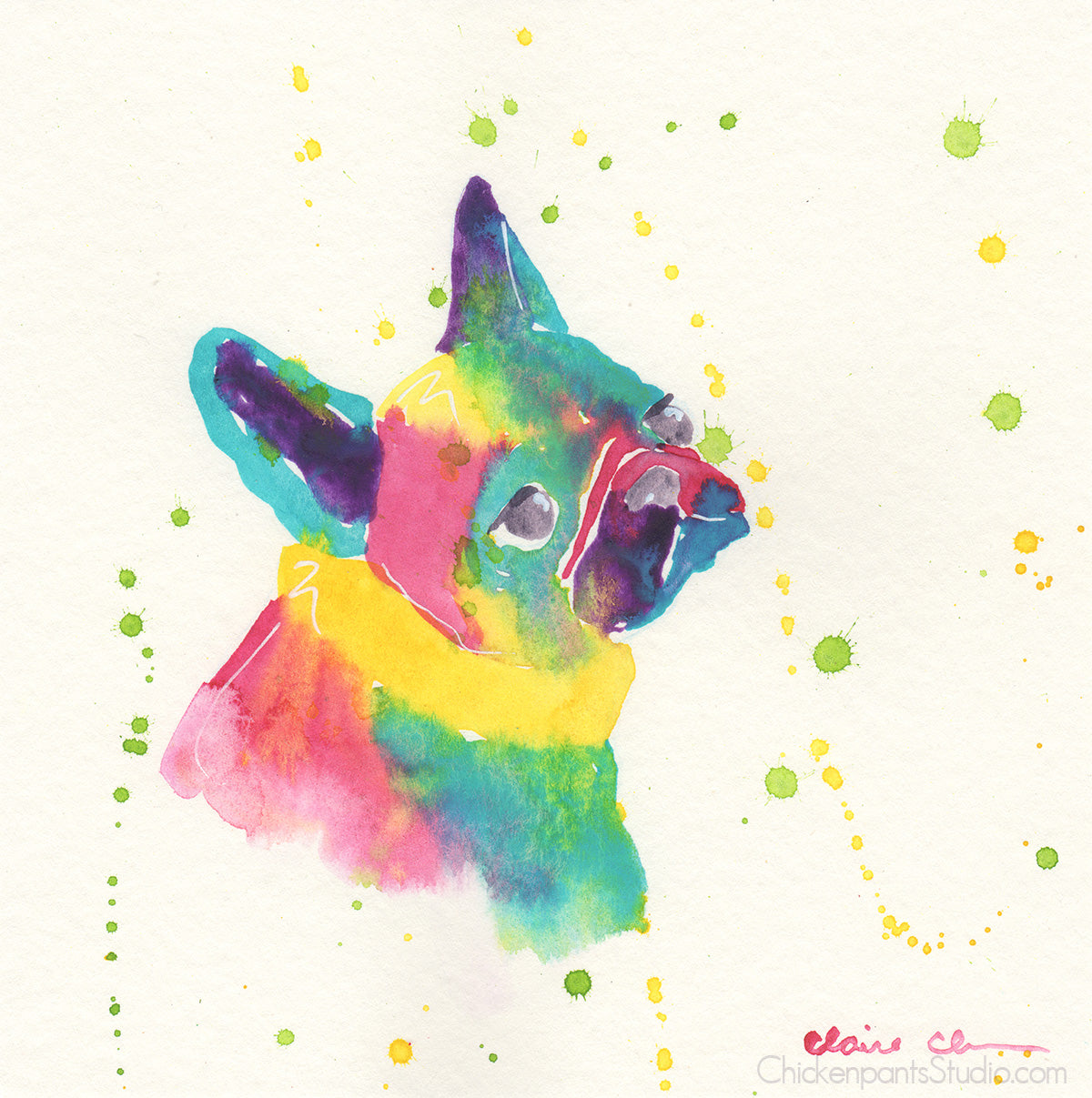 Lost In Thought - Original French Bulldog Painting