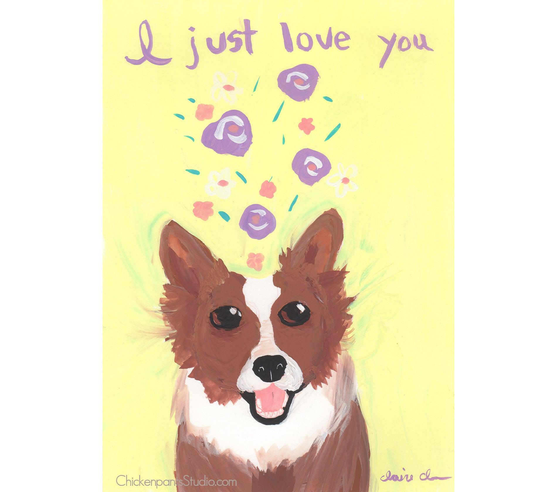 I Just Love You - Original Dog Painting