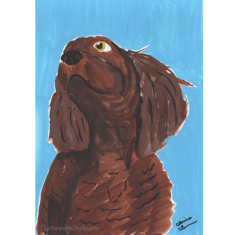 Did You Hear Something? - Original Spaniel Painting