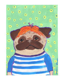 Bobby - Original Framed Pug Art