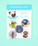 Summer Puggin' - Button Set 2