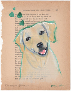 Golden Girl - Original Yellow Lab Painting