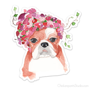 English Bulldog Vinyl Sticker