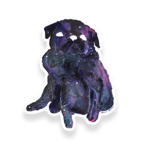 Galaxy Pug Vinyl Sticker