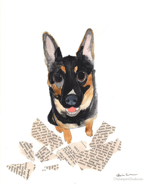 Mistakes Happen -  Original German Shepherd Art