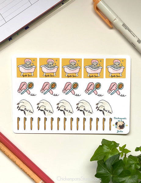 Grooming Dogs Planner Sticker Sheet