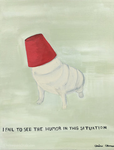 I Fail To See The Humor In This Situation - Original Pug Painting
