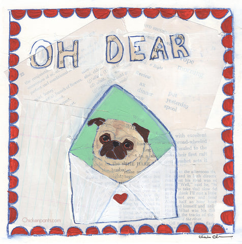 Oh Dear -  Original Pug Painting