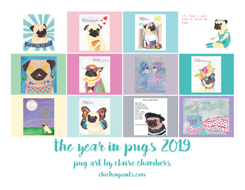 Last Ones! The Year In Pugs 2019 Calendar