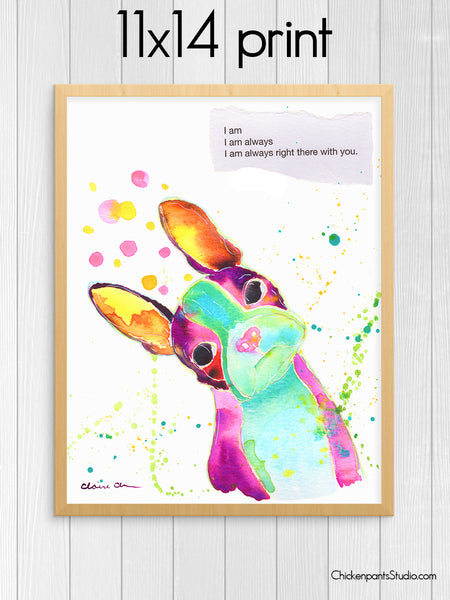 Always Right There With You - Boston Terrier Art Print
