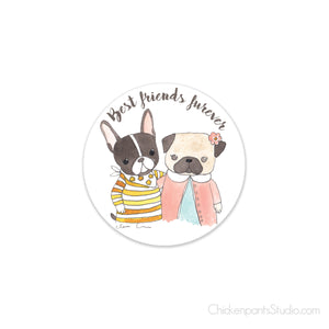Best Friends Furever Vinyl Sticker