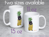Black Pineapple Pug Mug