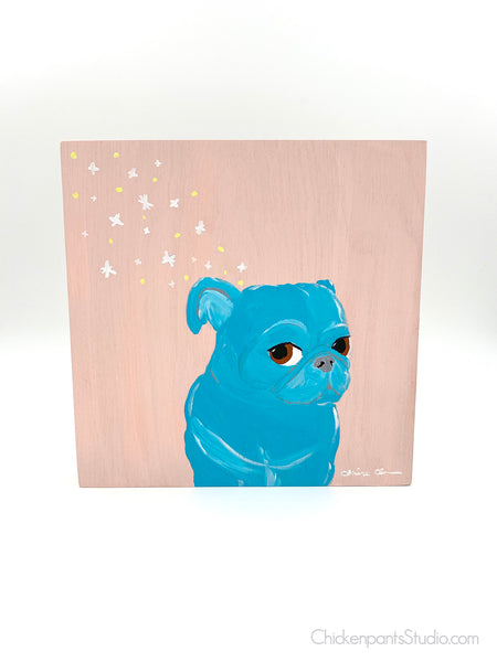 Star Bits - Original Pug Painting