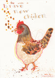 Brave New Chicken -  Original Chicken Art