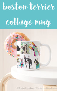 Boston Terrier Collage Mug