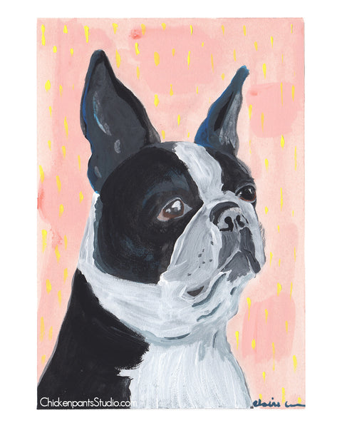 Millie - Boston Terrier Art Print