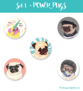 Power Pugs - Button Set 1