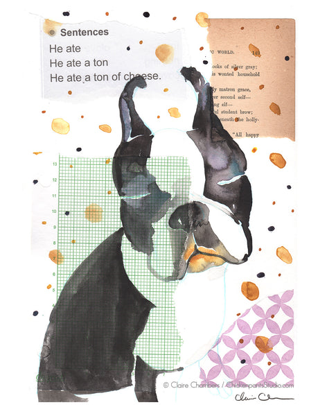 Cheese Lips - Boston Terrier Art Print