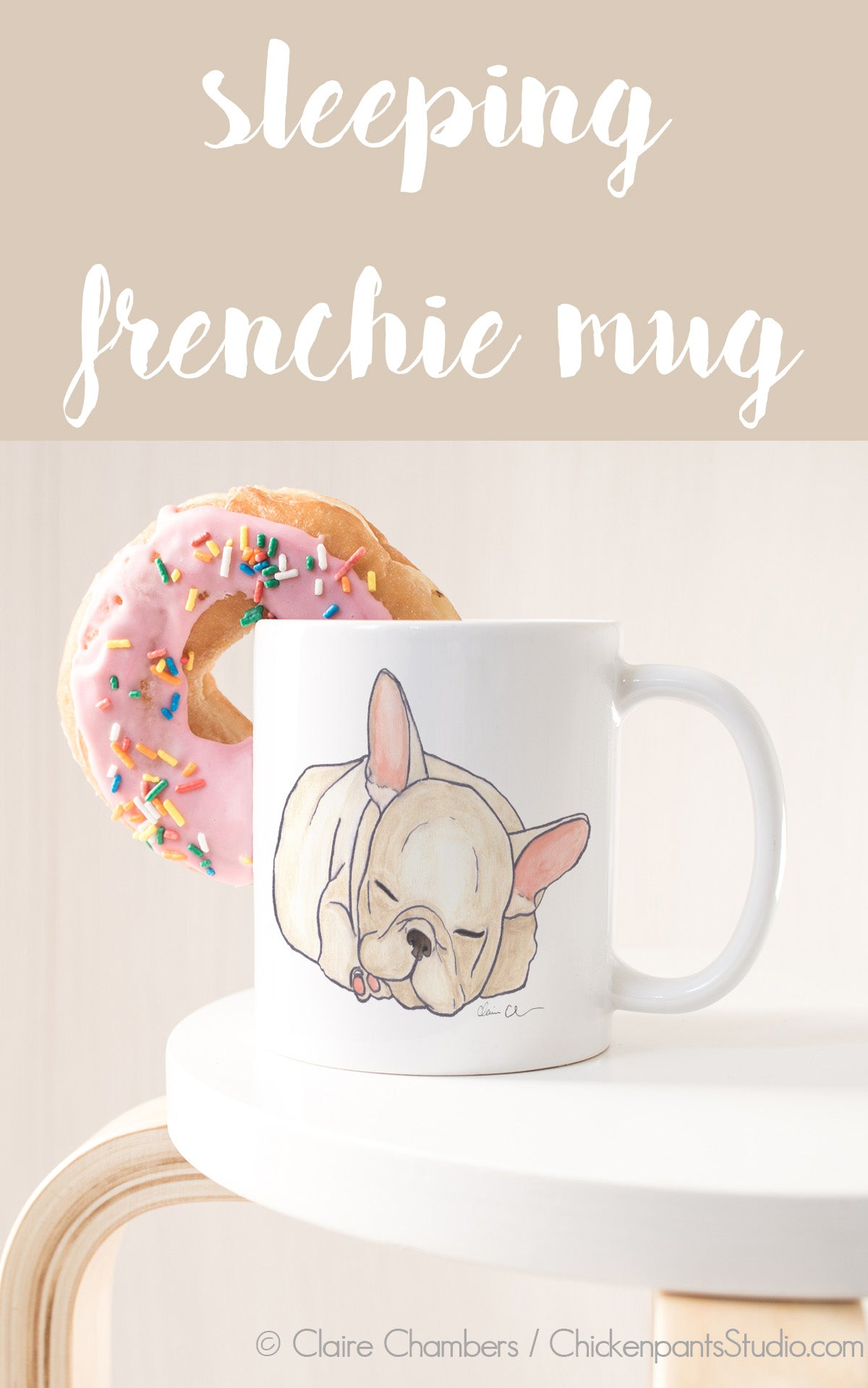 Sleeping French Bulldog Mug