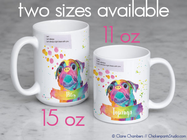 Personalized Always Right There With You Pug Mug