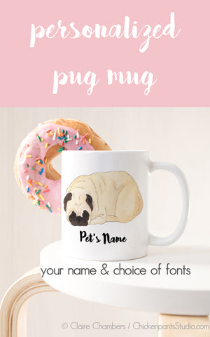 Personalized Pugloaf Sleeping Pug Mug