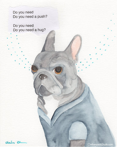 One Of Each -  Original French Bulldog Art