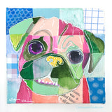 Patchwork Pug #5 - Original Pug Painting