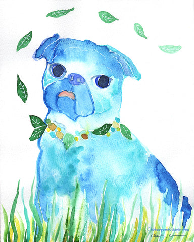 Susie -  Original Pug Art