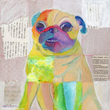 Patchwork Pug #2 -  Original Pug Art