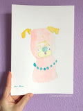 Pinkie -  Original Pug Art